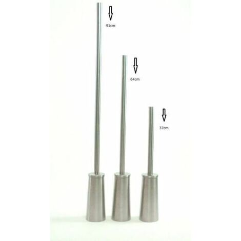 Long Handle Toilet Brush Holder Stainless Steel High Quality Replaceable Head[1.9cm thick]