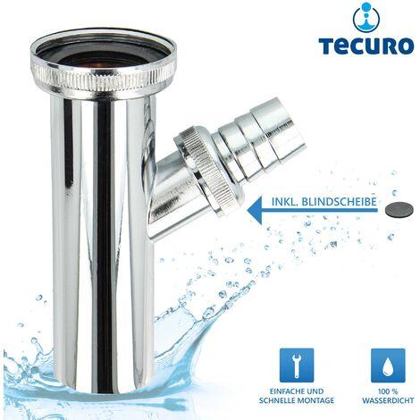tecuro Tauchrohr Verstellrohr mit Geräteanschluß für Waschbecken