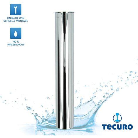 Edelstahl Verstellrohr Tauchrohr Verlängerung 200 mm für Geruchsverschluss