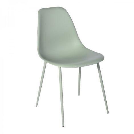 chaise verte en polypropylène