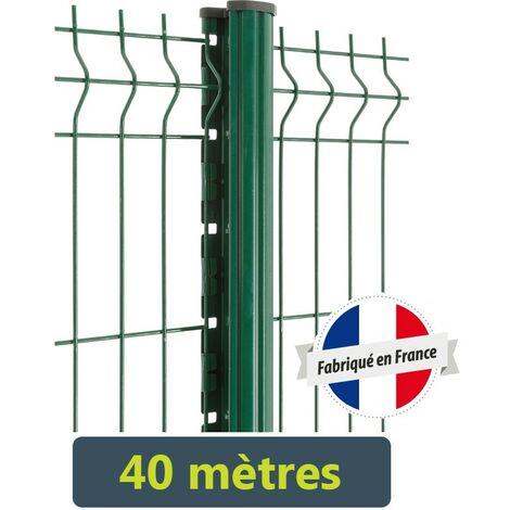 Kit clôture Easy PRO 5 - 40 mètres Hauteur : 1.03 Mètre Gris Anthracite