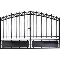 Portail aluminium double battants - Onyx - Noir Passage : 3 Mètres