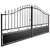 Portail aluminium double battants - Jais - Noir Passage : 3,5 Mètres