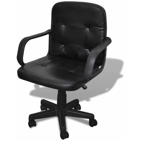 Bürostuhl Bürodrehstuhl SchreibtischstuhlChefsessel PU Stuhl Arbeitshocker Drehs