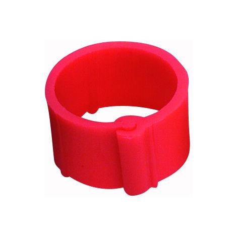 Bague rouge à clips 20 mm par 50