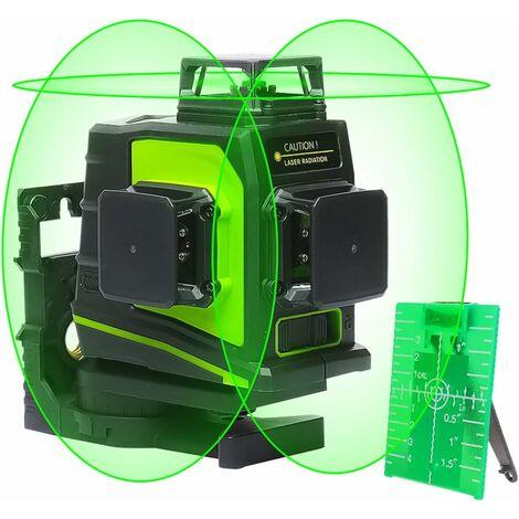 Niveau Laser Vert à 3x360 Auto-nivellement Huepar GF360G