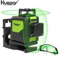 2 x 360 Niveau Laser Croix Vert Huepar 902CG