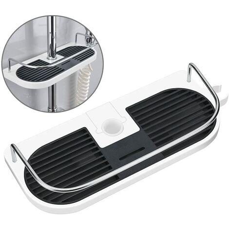 Estante para riel de ducha sin taladro LangRay - Soporte organizador de baño para champú, se adapta a riel de 19 mm - 25 mm