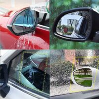 8 piezas de película protectora de espejo retrovisor de coche - Nano revestimiento de películas de lluvia Anti niebla Anti niebla HD Transparente, anti lluvia Anti niebla Película de espejo retrovisor
