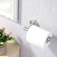Soporte para papel higiénico , soporte para papel higiénico montado en la pared, tornillo, soporte para papel higiénico de 12 CM, acero inoxidable cepillado