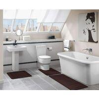 Alfombra de baño absorbente y antideslizante De espuma viscoelástica Lavable, Espuma viscoelástica, 40 x 120 cm - marrón