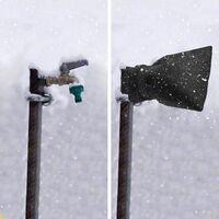 Escudo térmico para grifo de jardín, protector contra heladas y cubierta para grifo exterior resistente al frío, bolsa para grifo espesante resistente al invierno - negro