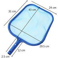 Red de limpieza de piscina, red de espuma de hoja de red de piscina, kit de limpieza de piscina con accesorio de red, red de superficie azul