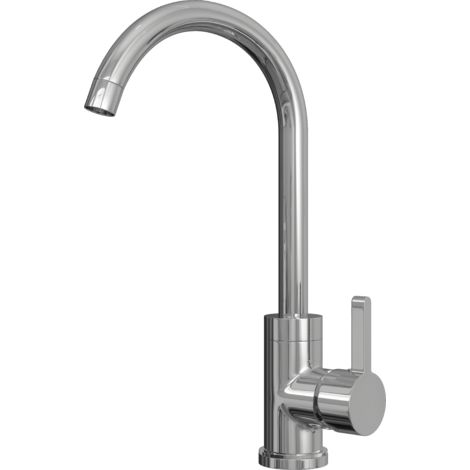 Olona Kitchen Mixer Tap with Swan Neck & Swivel Spout - Chrome Finish