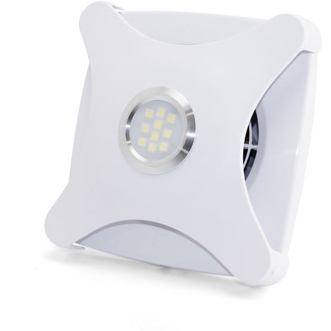 100mm Concealed extractor fan with light