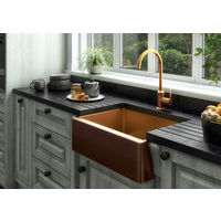 Excel 1 Bowl Belfast Style Sink & Waste - Oversize: 600x450x220mm - Copper Finish