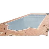 Lona de invierno para piscina de 3 x 3 m más 15 cm por cada lado para anclaje de color Gris (exterior) / Gris (interior)