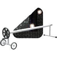 PACK COBERTOR TÉRMICO DE 500 MICRAS SOLAR ENERGY (5x3m) + ENROLLADOR TELESCÓPICO DE 81mm.
