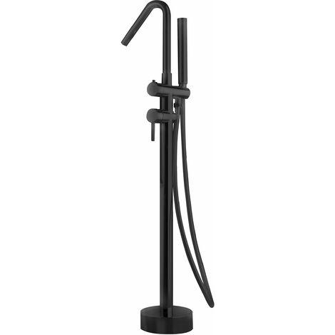 Grifería monomando exenta de bañera Córcega negro - IMEX