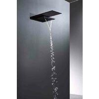 Conjunto de ducha negro mate. Serie Rodas