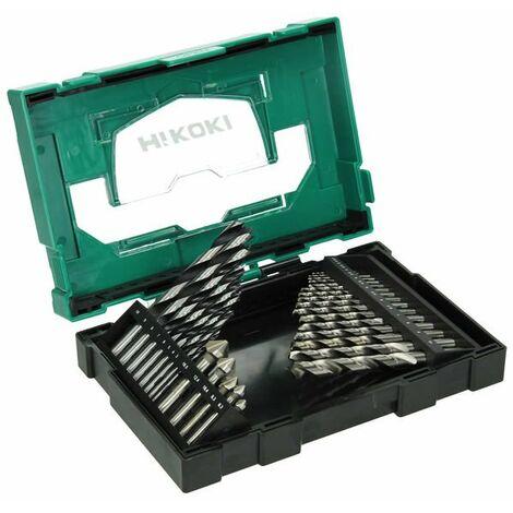 Juego de brocas para metal y madera 29 uds. Hikoki Box III