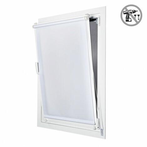 Store Enrouleur Tamisant EasyFix, installation facile sans perçage,Blanc, 45x180cm
