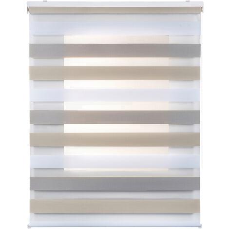 Store Zébré Jour Nuit, store enrouleur, Tricolor 80 x 180cm
