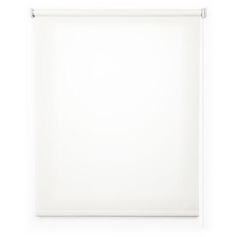 Store Enrouleur Tamisant, Store pour Fenêtres, Blanc, 45x180cm