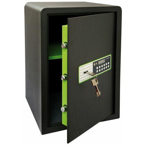 Arregui Supra 240080 Coffre-fort à poser, 6 mm, double sécurité : ouverture à clé et à code électronique, 52 x 35 x 36 cm, 53 L - gris foncé