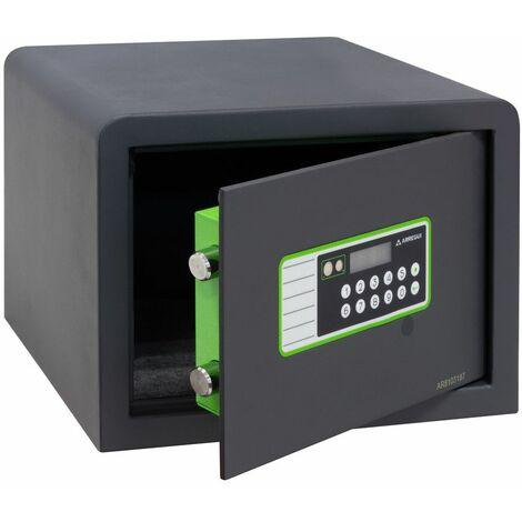 Arregui Supra Motorisé 240220 Coffre-fort à poser, 6 mm, ouverture à code électronique et motorisée, 25 x 35 x 25 cm, 16 L - gris foncé