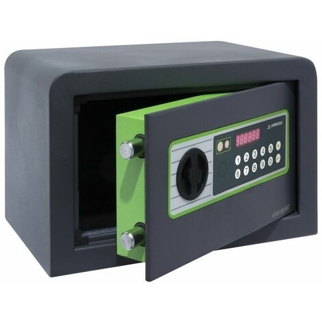 Arregui Supra 240110 Coffre-fort à poser, 6 mm, ouverture à code électronique, 20 x 31 x 20 cm, 8 L - gris foncé