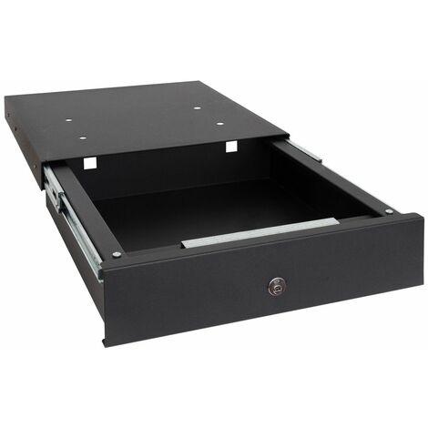 Arregui Box-in 22000-S1 Coffre-fort tiroir invisible, à cacher dans une plinthe, 9,8 x 41 x 45 cm, 12 L Noir - noir