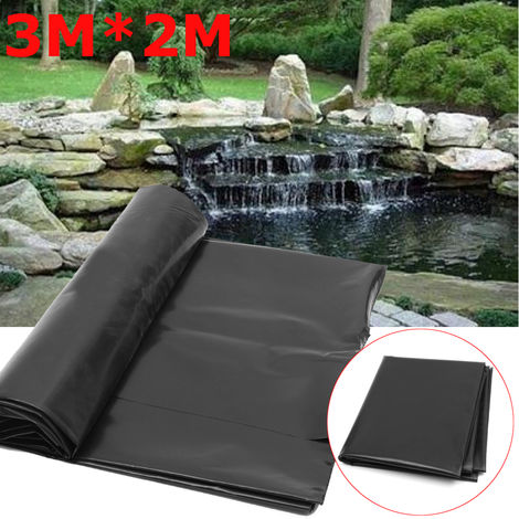 3X2M Black Fish Pond Liner Piscinas de jardín HDPE Membrana reforzada Garantía Paisajismo Sasicare