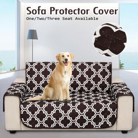 1x funda protectora para sofá impermeable extraíble marrón2 asientos