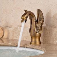 Mezclador de lavabo de ba?o de cisne dorado de lujo grifo monomando grifo de ca?o fr