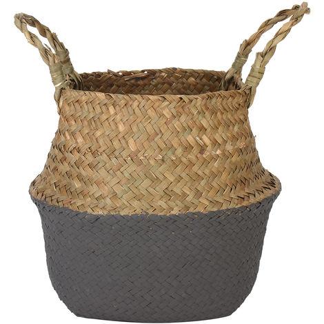 Flower Basket Storage Holder Plant Pot Laundry Bag Organizer Garden 38X34Cm