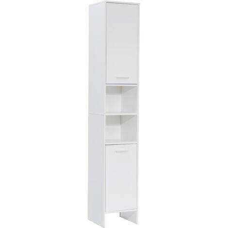 Bathroom Cabinet 2 Door Tall Cabinet 30x30x170cm White
