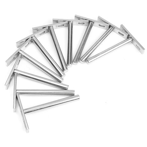 10 X Rugged Hidden Tool Hidden Wall Floating Metal Tray Support Brackets 4 Inch