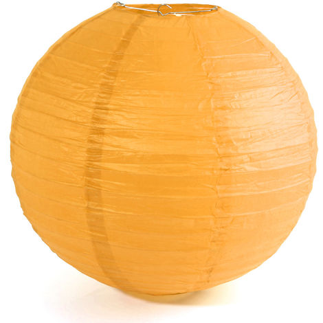 40cm Chinese Paper Lantern Ball Decor for Home Wedding Party Evening Yellow