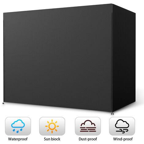 210D 3-Seater Hammock Swing Cover Cover Zip Outdoor Garden Patio Furniture Protector Sasicare