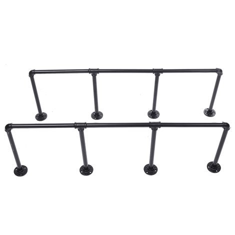 2pcs Scale Wall Shelf Pipe Vintage Industrial Floating Bookcase Sasicare