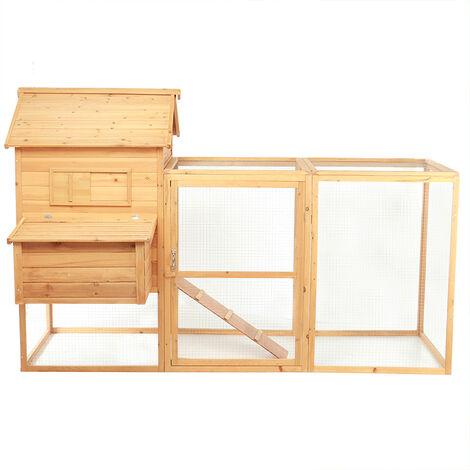 2-tier Chicken Coop Wooden Bunny/Hen Cage Pet House 150*146*228cm