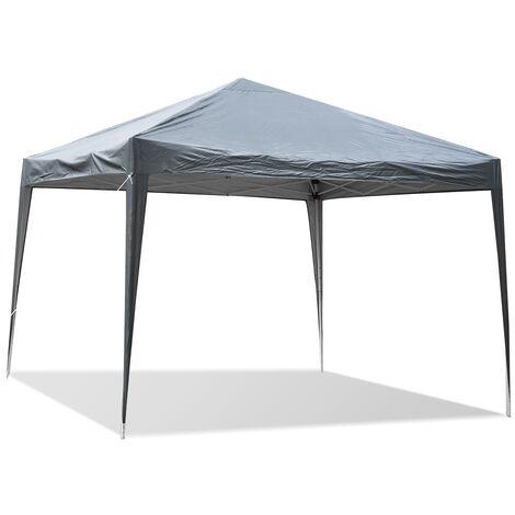 POP UP Waterproof Gazebo Marquee Heavy Duty Tent 3X3M Grey