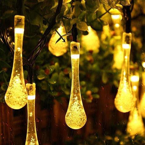 30 LEDs String Light Garden Outdoor Solar Powered Patio Yard Landscape Lamp warmwhite 6.5M