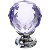 30mm Crystal Glass Door Handles Drawer Kitchen Furniture Drawer D