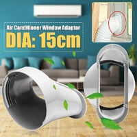 """15Cm / 6 """"Pvc Flat Nozzle Exhaust Pipe Window Adapter For Portable Air Conditioner"""
