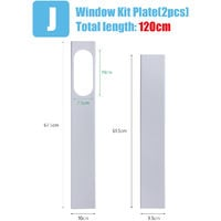 2Pcs Adjustable Window Slider Kit Plate For Air Conditioner Window Adapter
