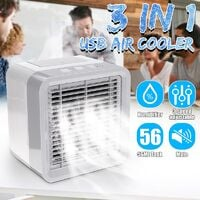 6.5 Inch Personal Mini Air Water Cooler Usb Power Humidifier Summer Purifier Portable Air Cooling Fan For Home Office Bedroom