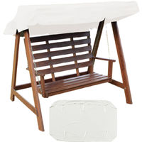 Swing Awning Cover Hammock Swing Chair Seat Cover Anti UV Waterproof White 3 Place