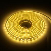 220V 240V LED Strip Lights Rope 5050 SMD Garden Kitchen Decking Waterproof Warm White 10M
